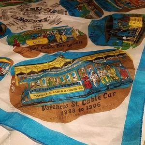 Vintage San Francisco Cable Car Carousel Scard